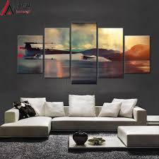 modern art star wars movie 5 panel canvas art wall framed on star wars canvas panel wall art with modern art star wars movie 5 panel canvas art wall framed