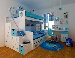 kids bedroom for girls blue. Cool-kids-rooms-boys-bed-bedroom-painting-ideas- Kids Bedroom For Girls Blue