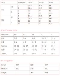 Pink Size Chart Size Chart