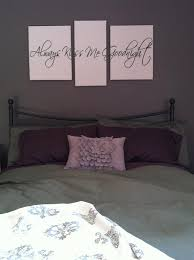 Vinyl wall art + canvas = gorgeous! I love my bedroom