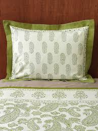 green pillow shams. Contemporary Pillow Paisley Pillow Shams Lime Green Pillow Cream Cotton Cover   Saffron Marigold And Shams T