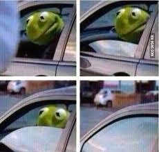 kermit driving meme blank.  Driving Meme Generator Image Preview To Kermit Driving Meme Blank H