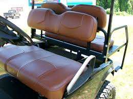 yamaha g14 g22 golf cart deluxe seat covers front and rear staple saddle brown