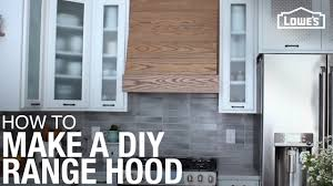 how to build and install a custom range hood