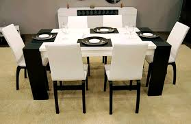 Contemporary Dining Room Set - Modern white dining room sets