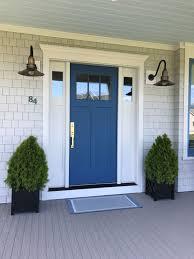 Light Blue Barn Door Idea House 2017 Diy Craftsman Front Doors Craftsman