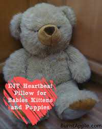 diy heartbeat pillow for puppies kittens and babies