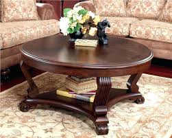 cherry wood coffee table set square round furniture of crescent glass top dark