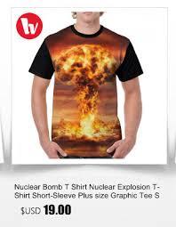 Nuclear Bomb T Shirt Nuclear Explosion T Shirt Short Sleeve