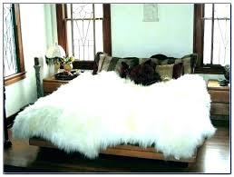 furry white rug big fur rug furry big white rug faux fur rugs for bedroom large