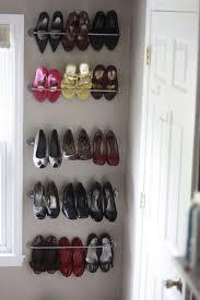 shoe storage with an ikea bygel rail