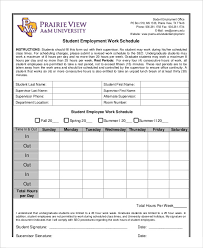 Timeline Template For Student Beauteous Simple Employee Schedule Template 48 Free Word PDF Documents