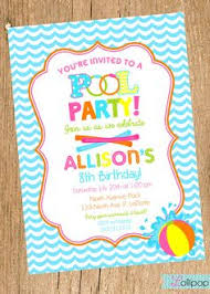 15 Pool Party Birthday Party Invitations With Envelopes- Swimming ...