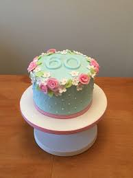 60th Birthday Cake Flowery And Simple Cakes Birth