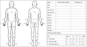 Lund And Browder Chart Download Scientific Diagram