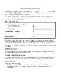 Contract Proposal Template Free Inspiration General Contractor Proposal Template Sample Services Templates For