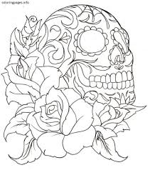 Small Picture 16 best Sugar Skull Coloring Pages images on Pinterest