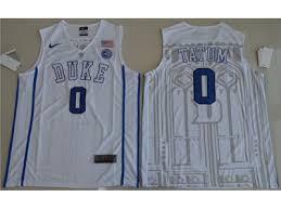 Basketball Jordan White Carolina Discount Devils Tatum Nba Duke Ncaa Jayson Jersey Shirt Shaq Michael Clothing Elite Szk243 North Blue By Holidays 0 Stitched Usps Nba Numbers