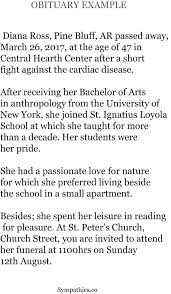 Obituary Examples Messages In Newspaper Best Templates