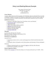Career Objective For Resume For Bank Jobs Sample Resume For Bank Jobs With No Experience Danayaus 23