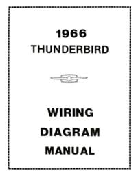 ford 1966 thunderbird wiring diagram manual 66 this listing is for one brand new 1966 ford thunderbird car wiring diagram manual measuring approximately 8 ½ x 11 covering instrument panel ignition