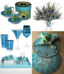 Peacock Home Or Event Decor TRAY