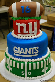 The Baking Sheet 3 Tier New York Giants Football Cake This Needs