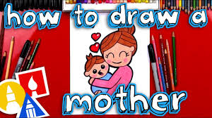 How To Draw A Mother Hugging A Baby Youtube