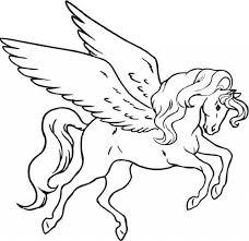 Unicorno Alato Creatura Fantastica Da Colorare