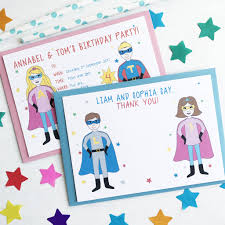 superheroes birthday party invitations twin or joint superhero birthday party invitations by superfumi