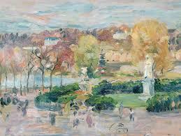 autumn painting landscape in tours by berthe morisot