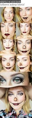 get this easy scarecrow makeup look for halloween with a simple step by step