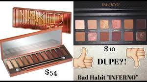 urban decay heat palette dupe bad habit inferno eyeshadow palette first impression review