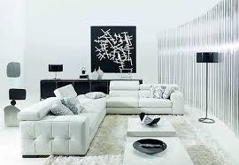 White On White Living Room Decorating Black And White Living Room Ideas