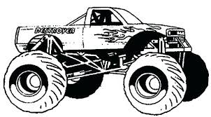 Monster Truck Coloring Sheets Menotomyme