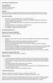 Respiratory Therapist Resume Sample Respiratory Therapist Resume
