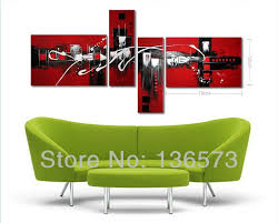 >wall art captivating 4 piece wall art set gallery wall decor sets   wall art set decor cherry blossoms tress nature green sofa with round table handpainted black white and red modern abstract oil painting on