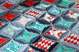 Denim Quilt Patterns For Beginners | MODERN & ... Good Denim Quilt Patterns For Beginners #1 - QUILT PATTERN Denim Circle  Rag Quilt Rag ... Adamdwight.com