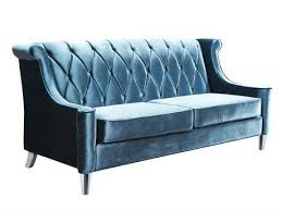 edgy furniture. Perfect Furniture Armen Living Barrister Blue Velvet With Crystal Buttons Sofa With Edgy Furniture