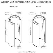 Dunlop Slide Size Chart Wolfram Martin Simpson Artist Series Signature Guitar Slide Small Size