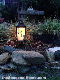 diy outdoor solar lighting ideas. very cool, homemade $8 solar address lantern for your front garden. diy tutorial and diy outdoor lighting ideas d