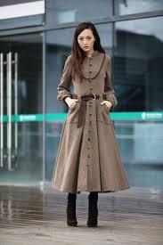 new stylish winter cashmere coat for girls