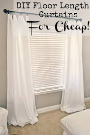 the wicker house 5 curtains flat sheets cut the top hem every few inches so they ll pleat when hung then hang see site for great after pi