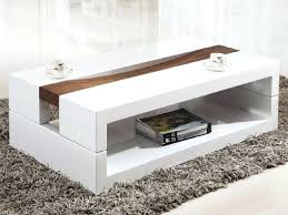 large modern white coffee table distressed wood in decor design high gloss