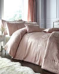 pink duvet cover set blush