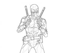 Small Picture Get This Free Deadpool Coloring Pages 492360