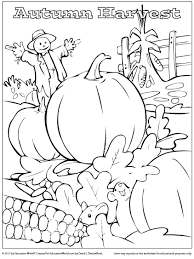 fall coloring sheet coloring sheet fall harvest education world