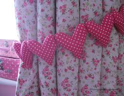 Shabby Chic Bedroom Uk Shabby Chic Hot Pink Polka Dot Curtain Heart Tie Backs Nursery