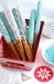 glittering pretzel wands by heather baird published wednesday december 16 2016 wednesday december 16 2016 white chocolate dipped pretzels recipe
