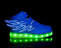 Big Kids Light Up Shoes Light Up Shoes Led Shoes Super Pegasus Blue Wings Kids